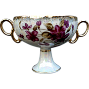 REDUCED Gorgeous Opalescent Double Handled Cup