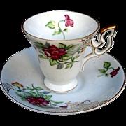SALE Gorgeous Ucagco Floral Mini Footed Tea Set