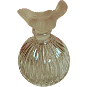 SALE Vintage Frosted Dove Top Perfume Bottle