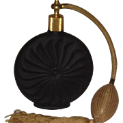 Vintage Black Matte Spray Perfume Bottle