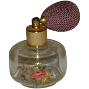 SALE Beautiful Vintage Small Flowered Atomitzer Perfume Bottle