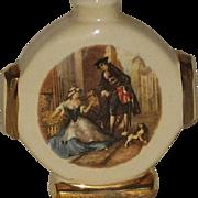 SALE Vintage Porcelain Aidee Devon Violet Victorian Scene Perfume Bottle