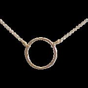 XL Circle Necklace, 14k Gold Fill, You Choose Length