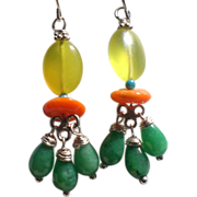 SOLD Island Colors Gem Earrings