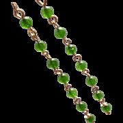 Green Nephrite Jade 7-Gem Earrings