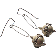 Sterling Silver Reticulated Ball Earrings