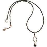Petite Pyrite Gem Necklace with Bronze