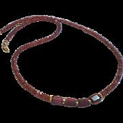 Garnet Gemstone Necklace with 14k Gold Fill