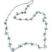 """Chalcedony Gemstone Necklace with 18k Gold Vermeil, Variable Length to 33"""""""