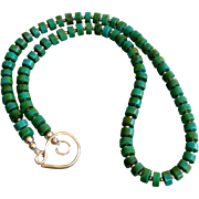 Turquoise Gem Slices with 14k Gold Fill Long Extender Chain Included
