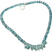 Apatite Gemstone Necklace with Sterling Silver
