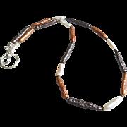 Necklace 1 of 3 From Layering Set: Blue, Orange, White
