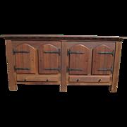 SALE Spanish Antique Oak Rustic Sideboard Antique Furniture