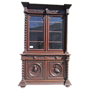 SALE French Antique Hunter's Bookcase Cabinet Display Antique Furniture