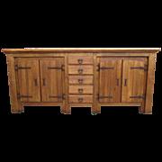 Antique Furniture Spanish Antique Oak Sideboard Cabinet!