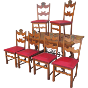 Spanish Antique Dining Table and set of 6 chairs c. 1900