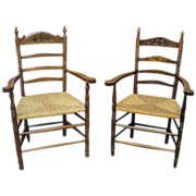 French Antique Chairs Pair of Chairs Armchairs Antique Furniture