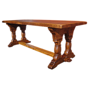 Antique Furniture French Antique Rustic Trestle Dining Table!