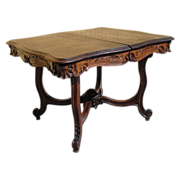 Antique Furniture French Antique Carved Entry Table Dining Table!