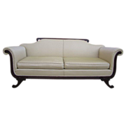 REDUCED Antique Carved Sofa Couch Mahogany Antique Furniture