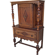 SOLD English Antique Server, Jacobean Cabinet