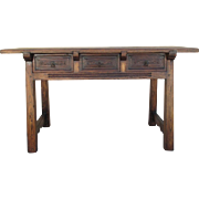 Spanish Antique Three Drawer Writing Desk Console Table Antique Furniture