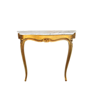 SOLD French Antique Console  Entry Table with Marble Top Antique Furniture