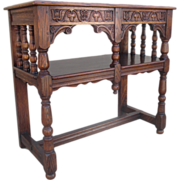 Spanish Antique Gothic Server Console Entry Table Antique Furniture