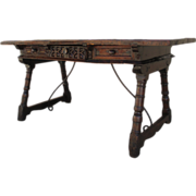 Spanish Antique Walnut Writing Table Antique Furniture