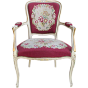 French Antique Needlepoint Chair Armchair Antique Furniture