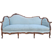 French Antique Carved Walnut Sofa Antique Furniture