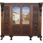 French Antique Carved Gothic Bookcase Antique Furniture