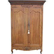 French Antique Two Door Walnut Armoire Antique Furniture