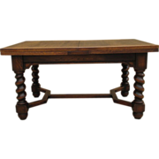 SOLD French Antique Oak Barley Twist Dining Table Antique Furniture