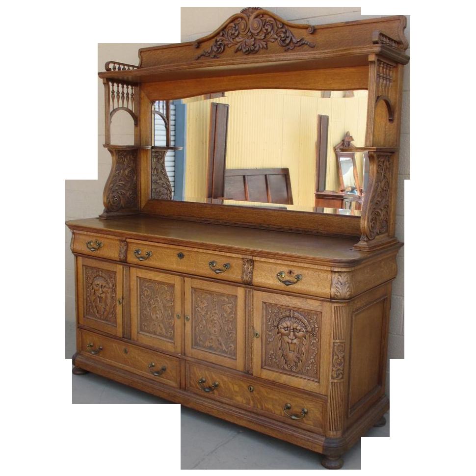 Antique Furniture: Brise Vue Bois: Antique Oak Sideboards And Buffets Furniture