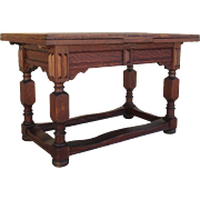 English Antique Refectory Table Extendable Library Table Antique Furniture