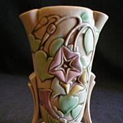 "Roseville Pottery "" Morning Glory"" Vase #725-7"