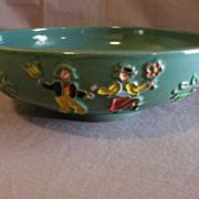 "Red Wing ""Incised Peasant Design"" Salad Bowl"