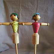 "Japanese Wooden ""Napkin Doll"""
