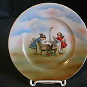 """Three Crown Germany """"Wash Day"""" Plate"""