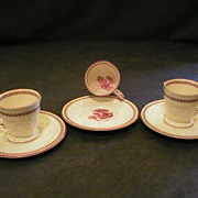 """Set of 3 Demi-Tasse Cups & Saucers, Wedgwood """"Paignton"""" on Patrician Blank"""