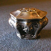 Victorian Silver Vinaigrette or Perfume/Cologne Casket