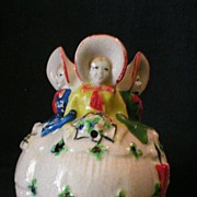 "Figural Ceramic String Holder ""Bride with Bridesmaids"" - Japan"
