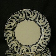 "Set of 3 - Adderley's Ltd. Blue Transfer Dinner Plates in ""Constance' Pattern"