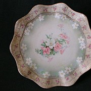 SALE R.S. Prussia Plate w/Pastel Floral Decoration and Vellum Finish