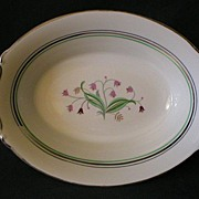 "Syracuse China ""Coralbel"" Pattern Open Oval Vegetable Bowl"