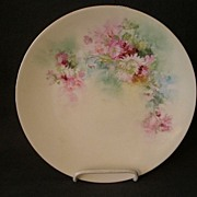 Buchanan Studio, Indianapolis, Hand Painted Cabinet Plate w/Floral Decoration