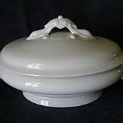 SOLD John Maddock & Son White Ironstone, Oval, Covered Tureen - Circa 1855