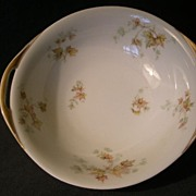 "Charles Haviland & Co. Limoges - ""Jewel Tea - Autumn Leaf"" Round Open Vegetable Bowl"