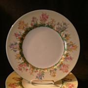 """Josiah Wedgwood & Sons """"Prairie Flowers"""" Pattern Dinner Plates - Set of 4"""